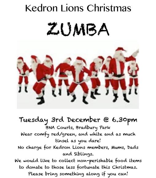 Zumba Christmas Images.Christmas Zumba Kedron Lions Netball Club Inc
